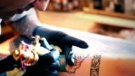 Tattoo workshop. video