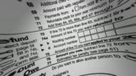 IRS 1040 Tax Form Macro V2 (HD Loop) video