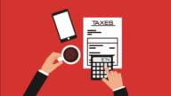 taxes concept design, Video Animation video