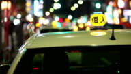 HD: Taxi at night in Tokyo video