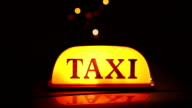 Taxi Cab light / sign in the city video