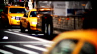 NYC taxi cabs video