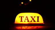 Taxi light / sign switching on and off video