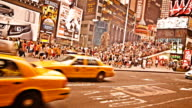 Taxi on Times Square, New York video