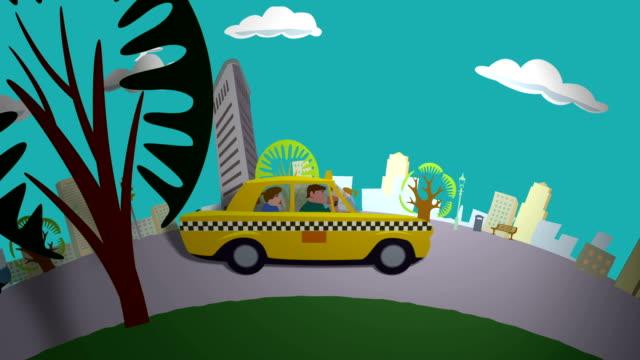 Taxi Ride through New York video