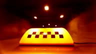 Taxi Speeding Through A Tunnel video