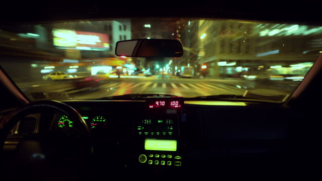 Taxi POV Time lapse video