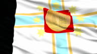 Tbilisi City Close Up Waving Flag video