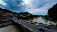 Tbilisi Georgia city center time lapse video