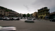 Tbilisi Georgia city junction traffic time lapse video