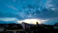 Tbilisi Georgia sunrise time lapse video