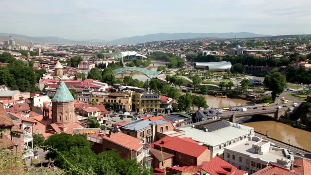 Tbilisi skyline in summertime, Georgia video