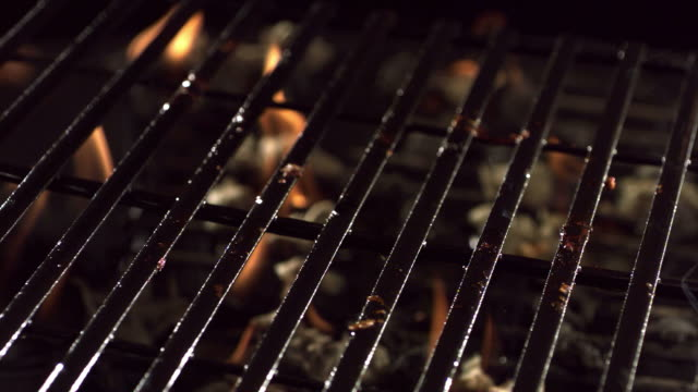 T-bone steak on barbecue grill video
