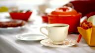 Tea on table video