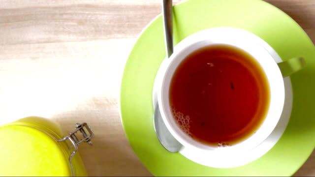 Tea poured into cup video