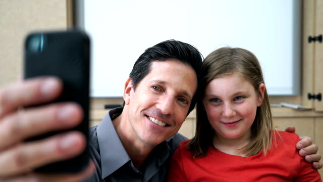 Teacher and Student Selfie video