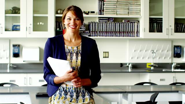 Teacher in classroom video