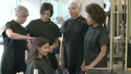 Teacher Training Mature Students In Hairdressing Class video