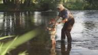 Teaching grandson to fish video