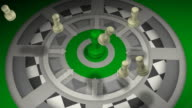 Team Concept with Green Leader, Chess, Checkmate, Teamwork video