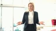Team leader speaking. video
