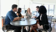 Team Meeting of Young Business People Led By Woman Entrepreneur video