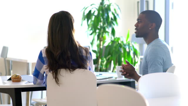Team of entrepreneurs meeting in an office video