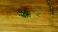 Tear and cut thyme video