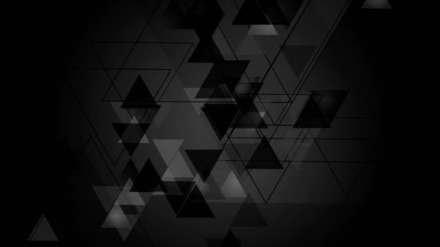 Tech black video animation with triangles video