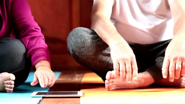 Tech Savvy Seniors using Application Software to meditate video
