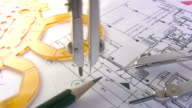 Technical Drawing 'compass' HD video