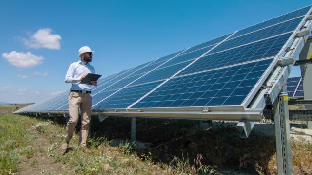 Technician At Solar Power Station video