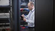 DS Technician working in server room video