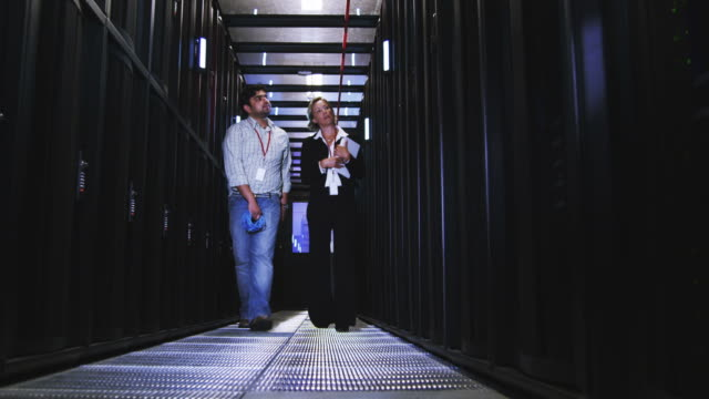 IT Technicians in data center video