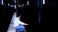 IT Technicians in data center video