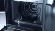 4K Technology Background Dolly Shot of Camera inside video