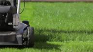 Technology cutting grass video