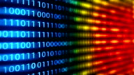 Technology loopable background with binary code video
