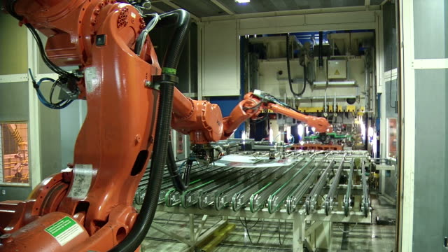 Technology of automobile factory. Car production. video