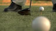 Teeing Off a Golf Ball video