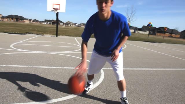 Teen basketball, POV video