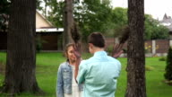 Teen Boy And Girl In Summer Park video