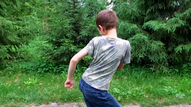 Teen boy having fun. Boy that depicts a boxer. What he portrays a dancer. video