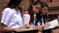 Teen Female Students Studying video