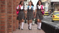 Teen Female Students Walking video