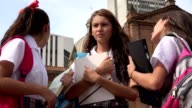 Teen Female Students With Textbooks video
