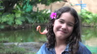 Teen Girl at Zoo during Summer video