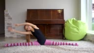 teen girl does some acrobatic [002] video