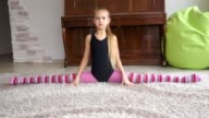 teen girl does some stretching [004] video