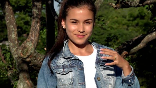 Teen Girl Hears Joke And Laughs video